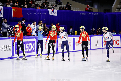 General view, <br /> FEBRUARY 20, 2017 -Short Track : <br /> Men's 1500m Final <br /> during the 2017 Sapporo Asian Winter Games <br /> at Makomanai Indoor Skating Rink in Hokkaido, Japan. <br /> (Photo by Yohei Osada/AFLO SPORT)