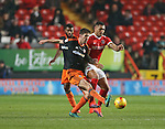 Charlton's Josh Magennis tussles with Sheffield United's Chris Basham during the League One match at the Valley Stadium, London. Picture date: November 26th, 2016. Pic David Klein/Sportimage