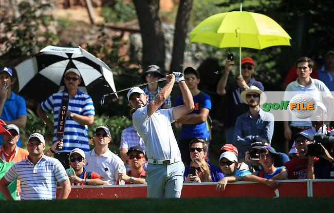 Charl Schwartzel (RSA) in action on the 16th tee during the Final Round of the 2016 Tshwane Open, played at the Pretoria Country Club, Waterkloof, Pretoria, South Africa.  14/02/2016. Picture: Golffile   David Lloyd<br /> <br /> All photos usage must carry mandatory copyright credit (&copy; Golffile   David Lloyd)