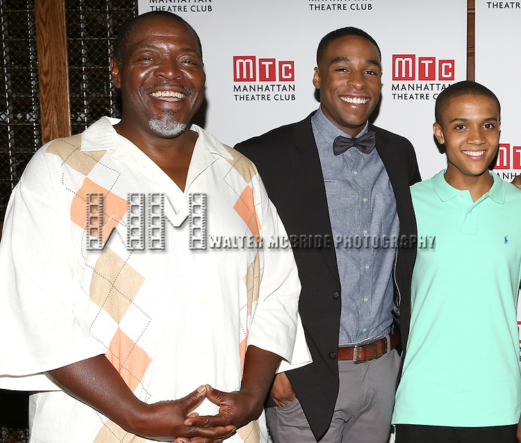 Chuck Cooper, Grantham Coleman, Nicholas L. Ashe attending the Opening Night Celebration for the MTC American Premiere of 'Choir Boy' at Inside Park at St. Bart's on July 2, 2013 in New York City.
