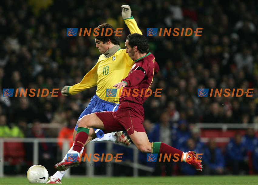 Brazil's Kaka against Portugal's Petit during a friendly match at Emirates Stadium in London, Tuesday February 06, 2007. (INSIDE/ALTERPHOTOS/Alvaro Hernandez).