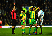 West Bromwich Albion's Jake Livermore is shown a red card by Referee Oliver Langford<br /> <br /> Photographer Richard Martin-Roberts/CameraSport<br /> <br /> The EFL Sky Bet Championship - Blackburn Rovers v West Bromwich Albion - Tuesday 1st January 2019 - Ewood Park - Blackburn<br /> <br /> World Copyright &not;&copy; 2019 CameraSport. All rights reserved. 43 Linden Ave. Countesthorpe. Leicester. England. LE8 5PG - Tel: +44 (0) 116 277 4147 - admin@camerasport.com - www.camerasport.com