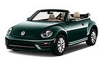 2017 Volkswagen Beetle 1.8T-Dune-Conv.-auto 2 Door Convertible Angular Front stock photos of front three quarter view