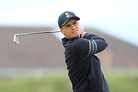 Hugo Townsend (SWE) on the 5th tee during Round 1 of the The Amateur Championship 2019 at The Island Golf Club, Co. Dublin on Monday 17th June 2019.<br /> Picture:  Thos Caffrey / Golffile<br /> <br /> All photo usage must carry mandatory copyright credit (© Golffile | Thos Caffrey)