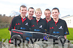 Killarney Community College students Shane Fleming, Mark O'Sullivan, Stephen Roche, Anthony O'Connor, Kevan O'Leary with the car they have made for the Formula 1 in schools challenge which will be held in Cork IT on the 6th of March    Copyright Kerry's Eye 2008