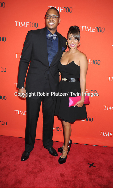 Carmelo Anthony and wife Lala Vasquez attending The Time 100 Most Influential People in the World Gala on April 26, 2011 at Frederick P Rose Hall in The Time Warner Center in New York City.