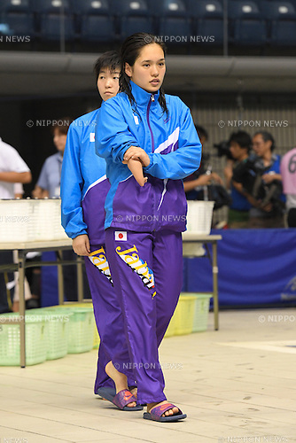 Mei Ichinose (JPN), <br /> JULY 18, 2016 - Swimming : <br /> 2016 Japan Para Championships Swimming <br /> Women's 100m Butterfly S9 Award ceremony<br /> at Yokohama International Swimming Center, Kanagawa, Japan. <br /> (Photo by AFLO SPORT)