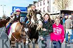Katie Anna and Shona Clarke, Tara O'Connor and Ava Sugrue at the Castleisland Horse Fair on Wednesday