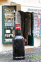 Wine and tourist shop. Street view. Alfama district. Lisbon, Portugal