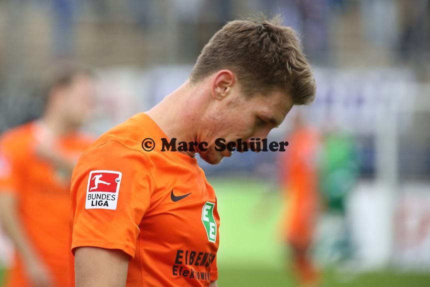 Jakub Sylvester (Aue) frustriert - FSV Frankfurt vs. FC Erzgebirge Aue, Frankfurter Volksbank Stadion