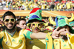 11 JUN 2010: South Africa fans. The South Africa National Team tied the Mexico National Team 1-1 at Soccer City Stadium in Johannesburg, South Africa in the opening match of the 2010 FIFA World Cup.