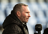 Lincoln City manager Michael Appleton speaks to the press during the pre-match warm-up<br /> <br /> Photographer Andrew Vaughan/CameraSport<br /> <br /> The EFL Sky Bet League One - Shrewsbury Town v Lincoln City - Saturday 11th January 2020 - New Meadow - Shrewsbury<br /> <br /> World Copyright © 2020 CameraSport. All rights reserved. 43 Linden Ave. Countesthorpe. Leicester. England. LE8 5PG - Tel: +44 (0) 116 277 4147 - admin@camerasport.com - www.camerasport.com