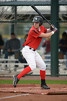 Tayler Aguilar (17) of Northridge High School in Evans, Colorado during the Under Armour All-American Pre-Season Tournament presented by Baseball Factory on January 14, 2017 at Sloan Park in Mesa, Arizona.  (Art Foxall/MJP/Four Seam Images)