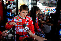 Apr 25, 2008; Talladega, AL, USA; NASCAR Sprint Cup Series driver Carl Edwards during practice for the Aarons 499 at Talladega Superspeedway. Mandatory Credit: Mark J. Rebilas-