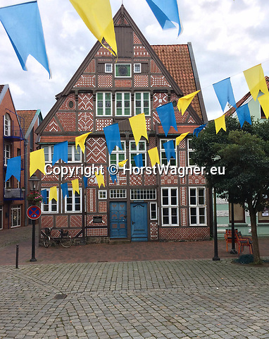 Germany, Buxtehude -- August 26, 2017 -- Museum of local history, in a traditional stud-work (half timbered) house -- © HorstWagner.eu