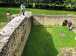 VMI Vincentian Heritage Tour: Members of the Vincentian Mission Institute cohort tour the remains of the ancient Roman theater Vendeuil-Caply, Wednesday, June 22, 2016, just south of the town of Breteuil.  (DePaul University/Jamie Moncrief)