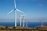 Turbines at Parque Eolico de Lanzarote wind farm, Lanzarote, Canary Islands, Spain