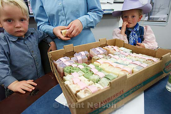 """Hildale -, Wednesday August 12, 2009..Dianna Peine and Roxanne Johnson sell their handmade soaps under the label """"Naturally Young Essentials"""""""