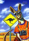 Interlitho, Lorenzo, CUTE ANIMALS, paintings, kangaroo, camera(KL3832,#AC#) illustrations, pinturas ,everyday