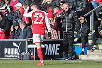 John Sheridan (Manager) of Fleetwood Town during the Sky Bet League 1 match between Fleetwood Town and MK Dons at Highbury Stadium, Fleetwood, England on 24 February 2018. Photo by David Horn / PRiME Media Images