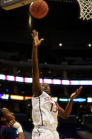 LOS ANGELES, CA - March 11, 2011:  Stanford's Chiney Ogwumike during the semi-final game of the 2011 Pac-10 Tournament game against the Arizona Wildcats at Staples Center.  Stanford won, 100-71.