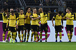 01.12.2018, Signal Iduna Park, Dortmund, GER, DFL, BL, Borussia Dortmund vs SC Freiburg, DFL regulations prohibit any use of photographs as image sequences and/or quasi-video<br /> <br /> im Bild die Mannschaft von Dortmund Jubel / Freude / Emotion / Torjubel / Torschuetze zum 1:0 Marco Reus (#11, Borussia Dortmund) <br /> <br /> Foto © nordphoto/Mauelshagen