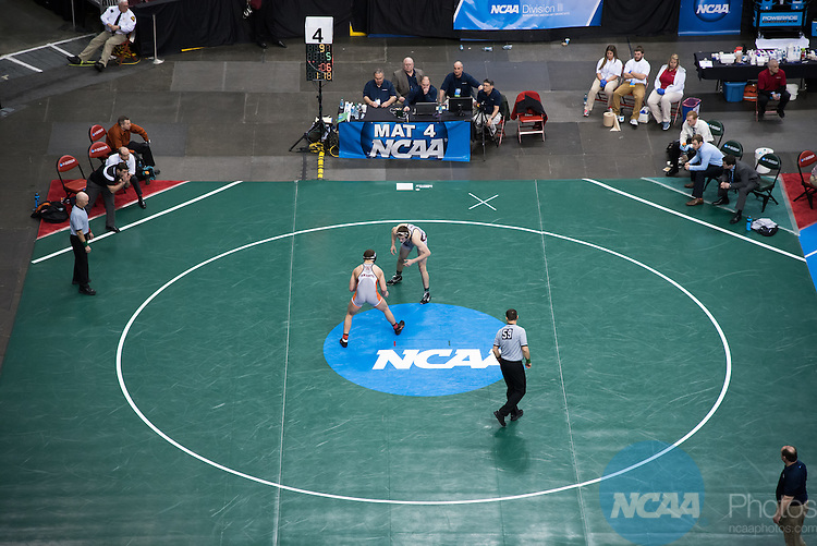 14 MAR 2015:  The Division III Men's Wrestling Championship is held at the Giant Center in Hershey, PA.  Ken Reabe Jr/NCAA Photos