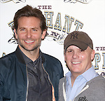 Bradley Cooper and director Scott Ellis attend the 'The Elephant Man' Broadway Cast photo call at Sardi's on October 21, 2014 in New York City.