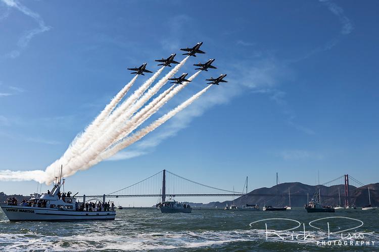 Blue Angels Delta Over San Francisco Bay