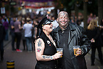 "© Joel Goodman - 07973 332324 . 22/08/2014 .  Manchester , UK . Maggie Davies (51 from Collyhurst) and Chris Rowlanson (41 from Blackley) on Canal Street . Manchester Pride "" Big Weekend "" in Manchester's "" Gay Village "" today ( 22nd August 2014 ) . Photo credit : Joel Goodman"