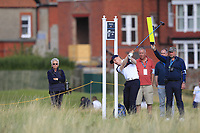 Euan Walker (GB&I) on the 17th tee during Day 2 Singles at the Walker Cup, Royal Liverpool Golf CLub, Hoylake, Cheshire, England. 08/09/2019.<br /> Picture Thos Caffrey / Golffile.ie<br /> <br /> All photo usage must carry mandatory copyright credit (© Golffile | Thos Caffrey)