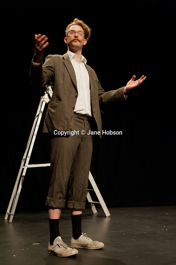 """London, UK. 9/7/11. Ed Rapley, presents """"10 Ways to Die On Stage"""" at Jacksons Lane, as part of their Postcards Festival."""
