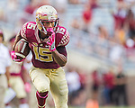 Florida State wide receiver Travis Rudolph turns upfield after a reception in the second half of an NCAA college football game against Wake Forest in Tallahassee, Fla., Saturday, Oct. 15, 2016. Rudolph had 13 catches for 238 yards as Florida State defeated Wake Forest 17-6. (AP Photo/Mark Wallheiser)