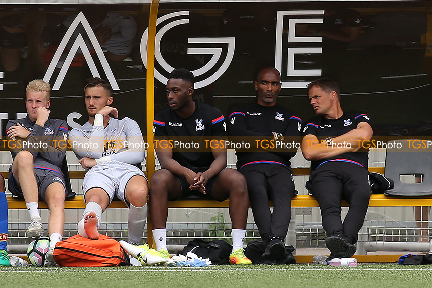 Crystal Palace Manager, Frank De Boer (far right) looks on during Maidstone United vs Crystal Palace, Friendly Match Football at the Gallagher Stadium on 15th July 2017