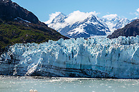 Summer landscape of the face of Margerie Glacier and Fairweather Mountains  in Tarr Inlet in Glacier Bay National Park in Southeast, Alaska    <br /> <br /> (C) Jeff Schultz/SchultzPhoto.com