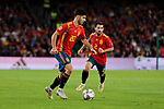 Spain's Marcos Asensio (L) and Jonny Castro (R) during UEFA Nations League 2019 match between Spain and England at Benito Villamarin stadium in Sevilla, Spain. October 15, 2018. (ALTERPHOTOS/A. Perez Meca)