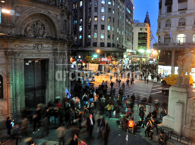 Florida street in dowtown Buenos Aires, Argentina