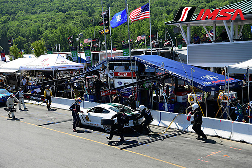 22-23 July, 2016, Lakeville, Connecticut USA<br /> 15, Ford, Shelby GT350R-C, GS, Scott Maxwell, Billy Johnson Pit Stop<br /> &copy;2016, Richard Dole<br /> LAT Photo USA