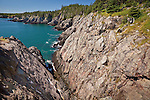 The Bold Coast Trail's craggy cliffs, Cutler Cliffs Reserve, Cutler, ME