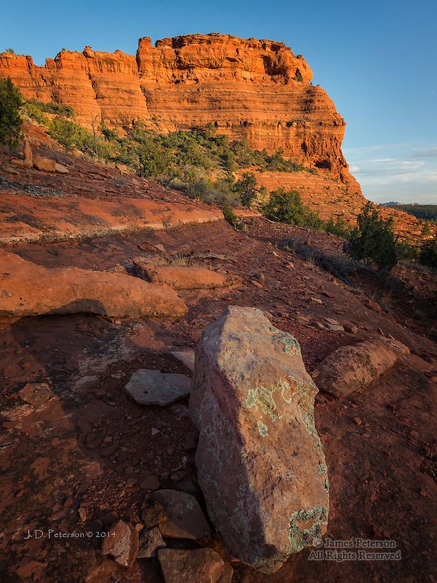 Sunset along Mescal Trail, near Sedona, Arizona