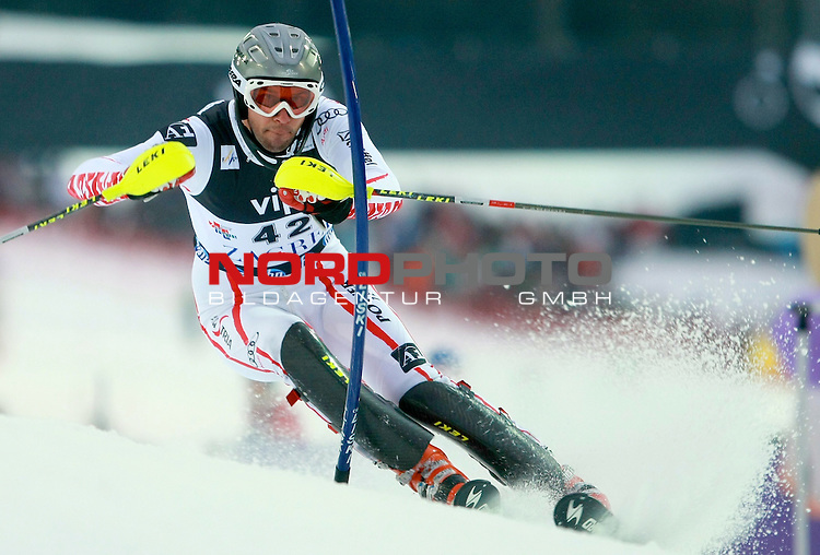 06.01.2011., Sljeme, Zagreb, Croatia - FIS Ski World Cup, Snow Queen Trophy, men slalom race, 1st run.<br /> Mario Matt<br />                                                                                                   Foto:   nph / PIXSELL