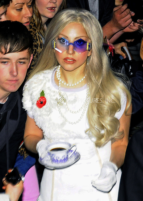 WWW.ACEPIXS.COM . . . . .  ..... . . . . US SALES ONLY . . . . .....November 13 2011, London....Lady Gaga leaving her hotel to head for the X Factor studios on November 13 2011 in London....Please byline: FAMOUS-ACE PICTURES... . . . .  ....Ace Pictures, Inc:  ..tel: (212) 243 8787 or (646) 769 0430..e-mail: info@acepixs.com..web: http://www.acepixs.com