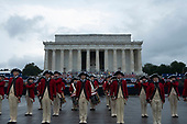 The band plays prior to United States President Donald J. Trump's Salute to America at the Lincoln Memorial in Washington DC on July 4, 2019.<br /> <br /> Credit: Stefani Reynolds / CNP