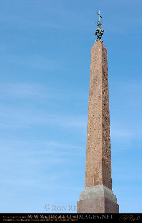 Sallustiano Obelisk Aurelian copy of Flaminio Obelisk 200 AD Top of Spanish Steps Trinita dei Monti Rome