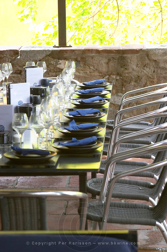 The restaurant. Chateau de Jau, Cases de Pene, Roussillon, France