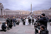 Pope Francis  during his weekly general audience in St. Peter square at the Vatican, Wednesday.February. 3, 2016.