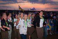 Dancers from the Jamboree song having party in the audience. Photo: André Jörg/ Scouterna