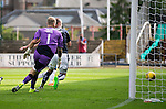 Dundee v St Johnstone...15.08.15  SPFL   Dens Park, Dundee<br /> Steven MacLean (hidden) puts the ball in the net to make it 2-1<br /> Picture by Graeme Hart.<br /> Copyright Perthshire Picture Agency<br /> Tel: 01738 623350  Mobile: 07990 594431