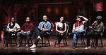 Justin Dine Bryant, Antuan Magic Raimone,  Sean Green Jr., Lauren Boyd, Neil Haskell and Donald Webber during the eduHAM Q & A with the cast of Broadway's 'Hamilton' at The Richard Rodgers Theatre on April 25, 2018 in New York City.