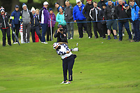 Lizette Salas of Team USA on the 7th fairway during Day 2 Foursomes at the Solheim Cup 2019, Gleneagles Golf CLub, Auchterarder, Perthshire, Scotland. 14/09/2019.<br /> Picture Thos Caffrey / Golffile.ie<br /> <br /> All photo usage must carry mandatory copyright credit (© Golffile | Thos Caffrey)